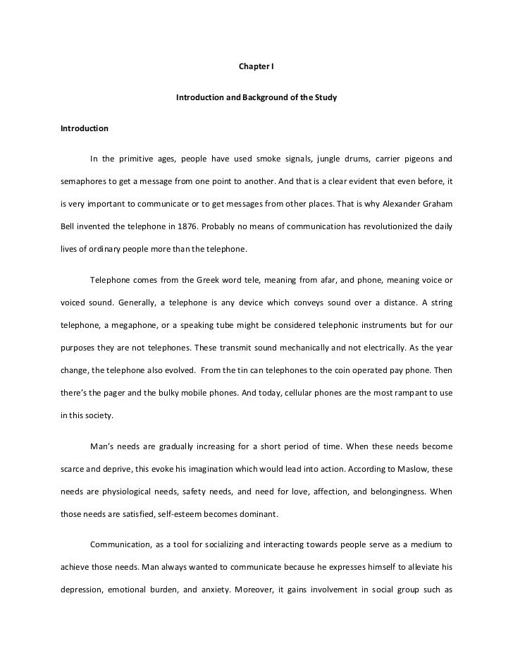 Chapter I<br />Introduction and Background of the Study<br />Introduction<br />In the primitive ages, people have used smo...