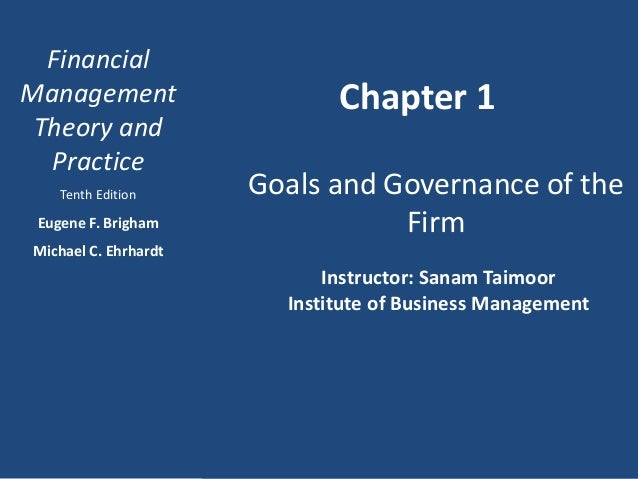 Chap 1 an overview of financial management
