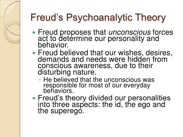 frueds psychoanalytic theory essay