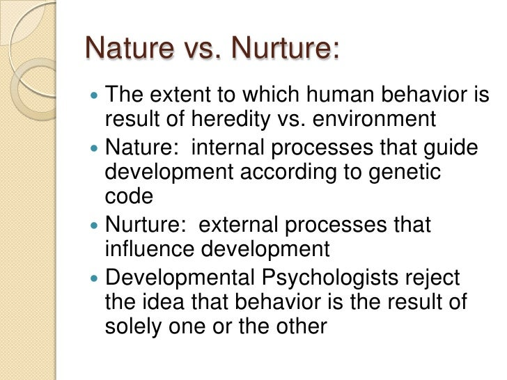 Nature Vs Nurture Behavior Psychology