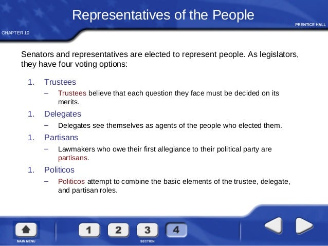 should members of congress see themselves as delegates or trustees Start studying chapter 10 congress learn vocabulary, terms, and more with flashcards, games, and other study tools.