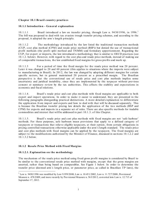 C hapter 10.1 Brazil country practices10.1.1 Introduction - Gen eral explanation10.1.1.1        Brazil introduced a law on...