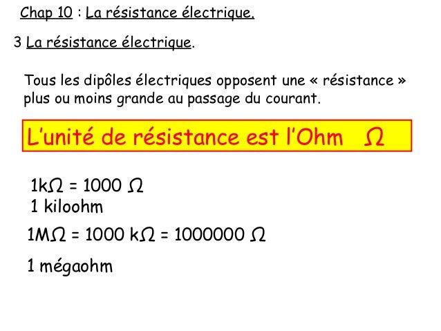 unite de resistance electrique