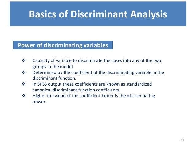 discriminant analysis spss Spss discriminant function analysispdf - download as pdf file (pdf), text file (txt) or view presentation slides online.