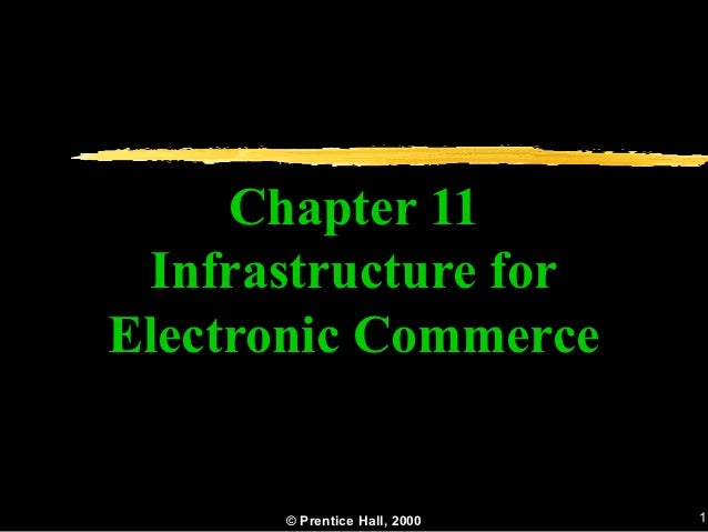 Chapter 11 Infrastructure forElectronic Commerce      © Prentice Hall, 2000   1