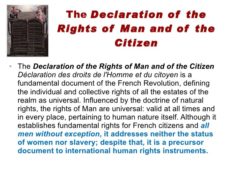an analysis of the 1789 french document the declaration of the rights of man and citizen Olympe de gouges was a french political  olympe de gouges' declaration of the rights  of the rights of man and of the citizen her document.