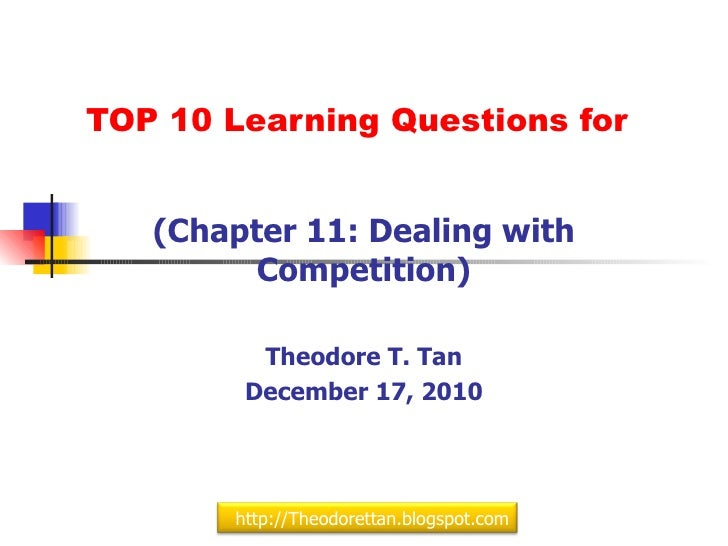 Top 10 Learning Questions for Chapter 11