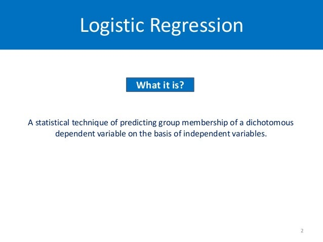 logistic regression research papers Journal of fluency disorders logistic  the potentially wide ranging usefulness of the logistic regression technique for stuttering research, an example of.