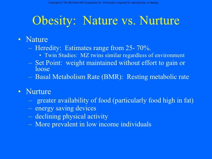 Childhood Obesity Nature Vs Nurture