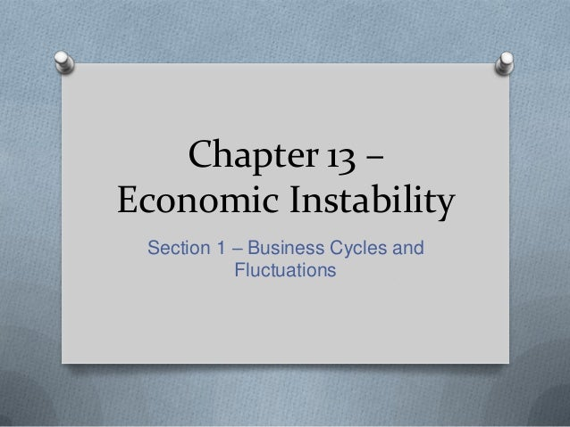 Chapter 13 – Economic Instability Section 1 – Business Cycles and Fluctuations