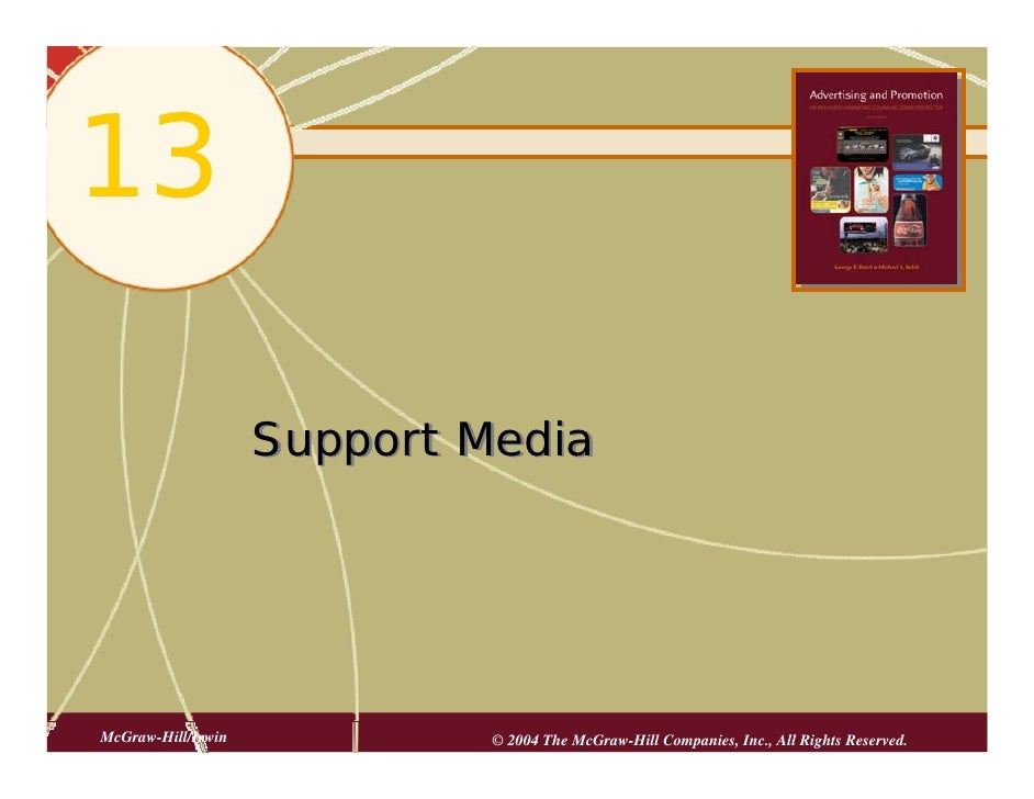 13                      Support Media     McGraw-Hill/Irwin            © 2004 The McGraw-Hill Companies, Inc., All Rights ...