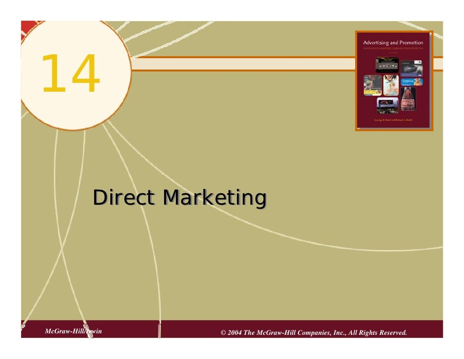 14                Direct Marketing     McGraw-Hill/Irwin        © 2004 The McGraw-Hill Companies, Inc., All Rights Reserve...