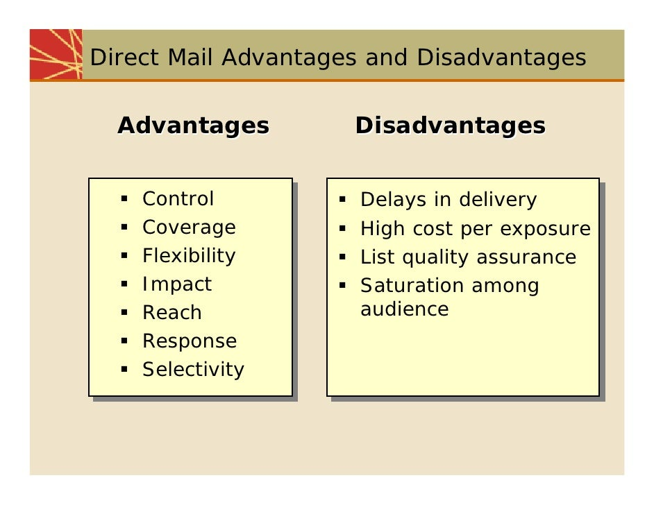 "the advantages and disadvantages of internet marketing Advantages and disadvantages of marketing by adrian ""marketing"" is defined by wikipedia as ""the process by which companies create customer interest in goods or services through which companies build strong customer relationships and creates value for their customers and for themselves."