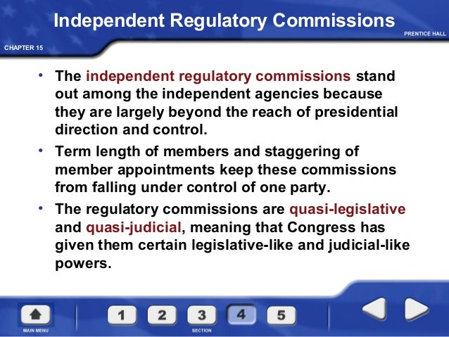 independent regulatory commissions are