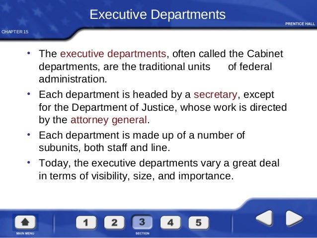 16. CHAPTER 15 Executive Departments ...