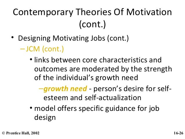 job characteristics model growth need strength Considering motivational, informational, and structural mechanisms claus w langfred washington university  job characteristics model, one of the most influential, broad  ing themselves on their job because growth needs strength is a broad construct (discussed in greater detail below), others have.