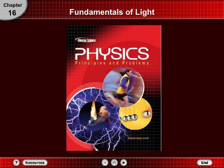Fundamentals of Light Chapter 16