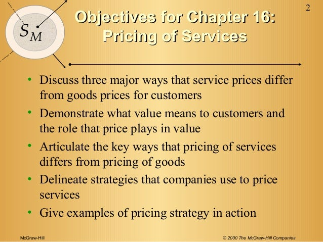 pricing of services  Slide 2