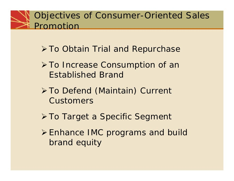 promotional objectives definition