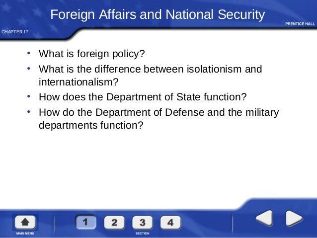 Foreign policy and national defense essays