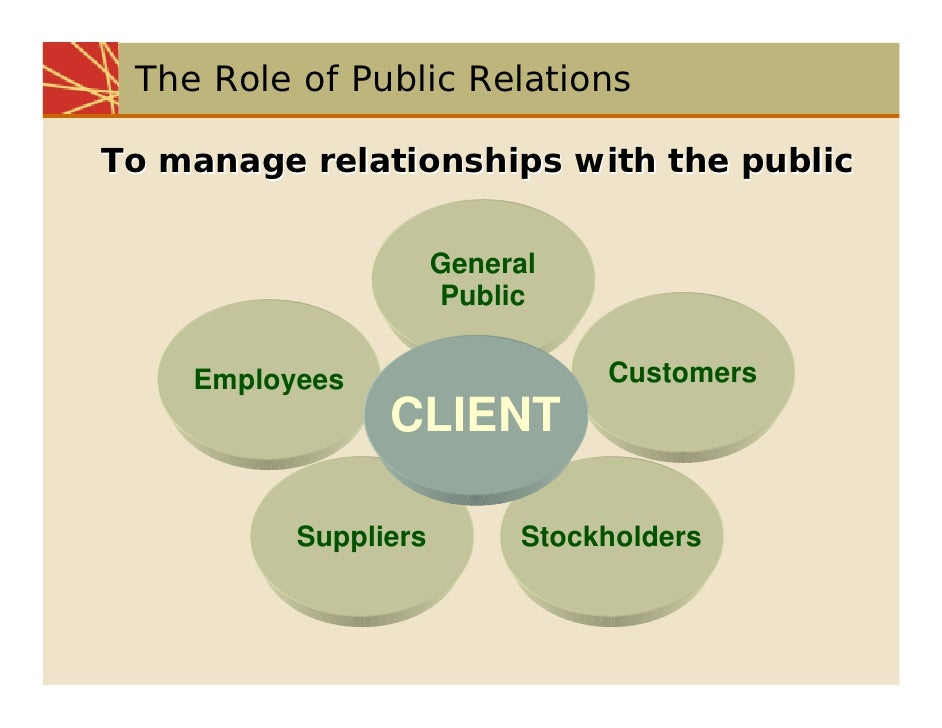 The roles and importance of public relations