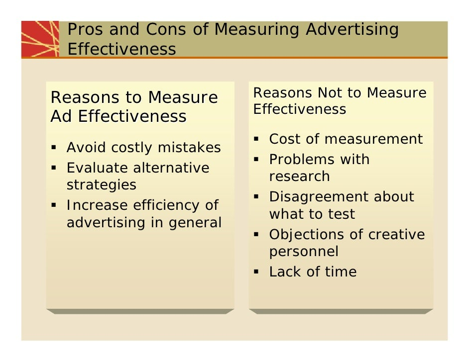 measuring advertising effectiveness In simple words, an advertisement campaign is incomplete without evaluating its  effectiveness measuring advertising effectiveness is the only.