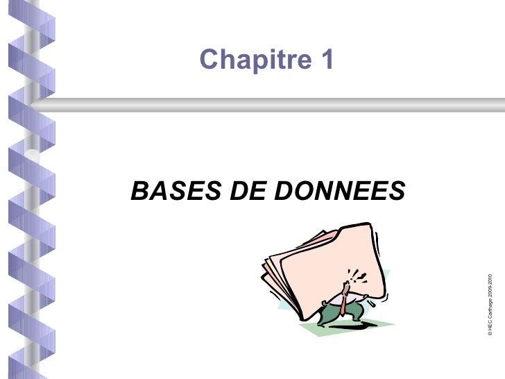 Chap1 Base de données