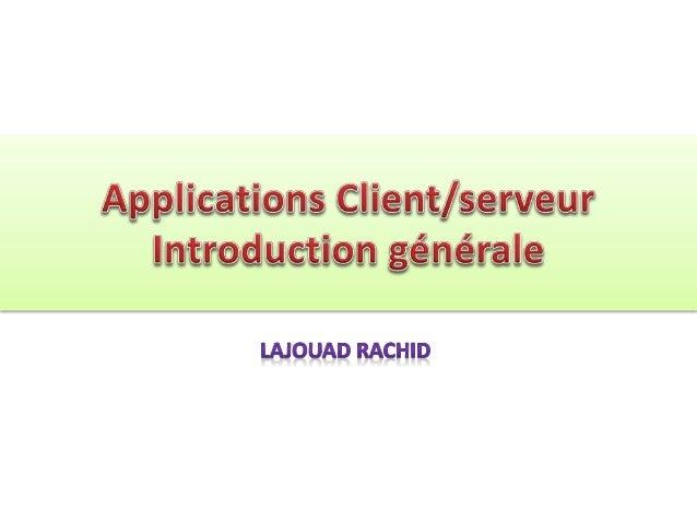 Le modèle client-serveur est un mode de fonctionnement théorique basé sur la séparation des rôles. Est appelé Client/serve...