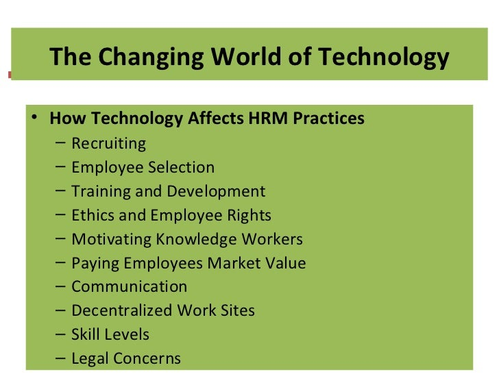 Technology Management Image: Fundamentals Of Human Resource Management Eighth Edition