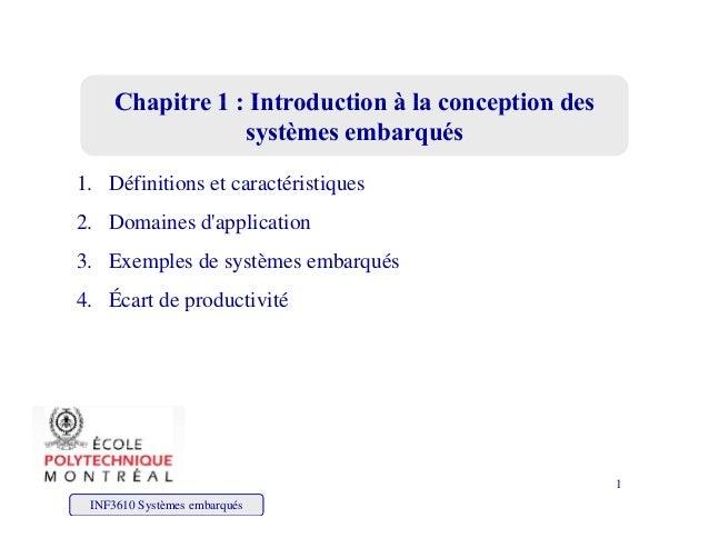 Chapitre 1 : Introduction à la conception desChapitre 1 : Introduction à la conception desChapitre 1 : Introduction à la c...