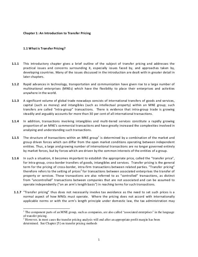 Chapter1:AnIntroductiontoTransferPricing         1.1WhatisTransferPricing?1.1.1 This introductor...