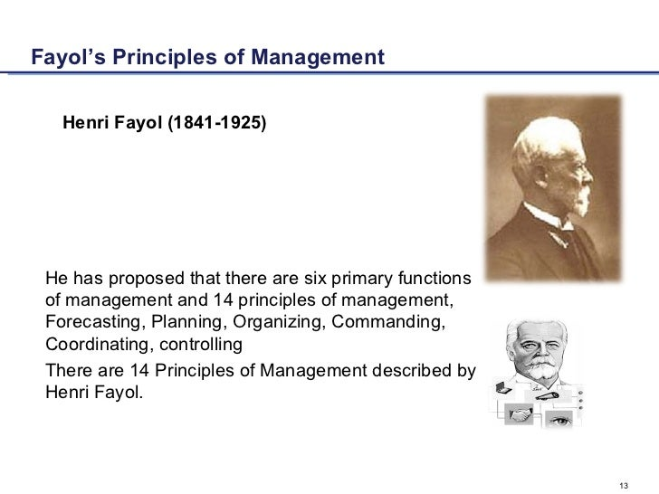 fayol's 14 principles of management The fourteen principles of henry fayol were first published in 1914 and almost 100 year on they are still relevant henry fayol published his 14 principles in his.