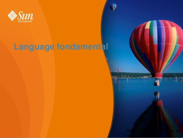 Language fondamental  Ben Abdallah Helmi Architect en 1 J2EE