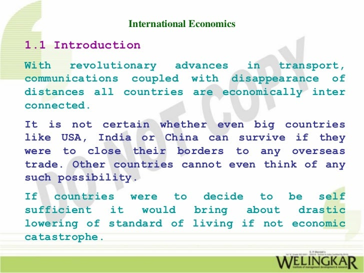 scope of international economics International business management  aims & scope : the scopes of the journal include,  international economics::.