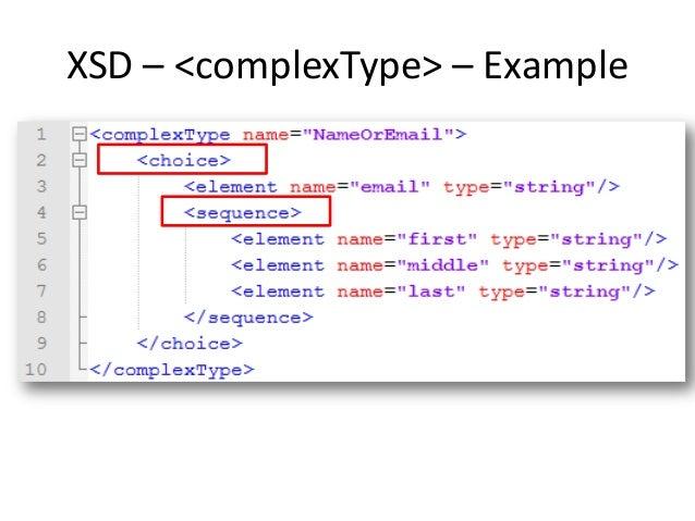 Xmls validation xml schema xsd complextype example ccuart Image collections