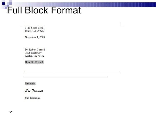 Business communication chap 2 business writing 30 full block format thecheapjerseys Choice Image