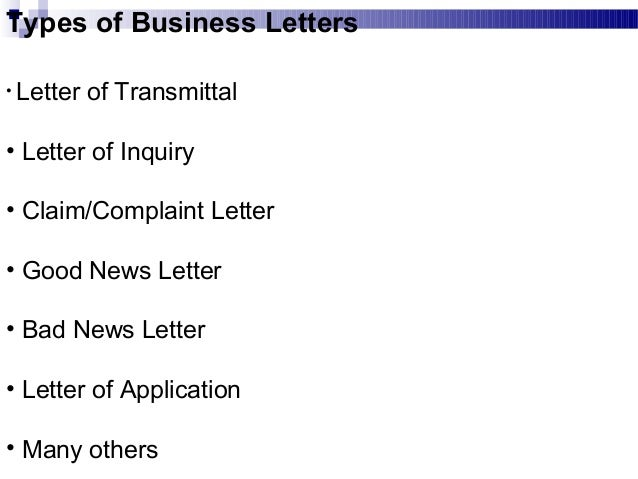 types of business writing documents