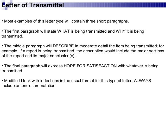 Business Communication Chap 2 business writing – What is a Letter of Transmittal Example