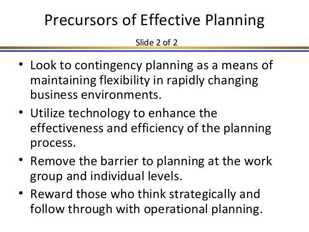 barriers to effective planning Barriers to family planning use in malawi opportunities for social and behavior change communication april 2012 this publication is made possible by the generous.