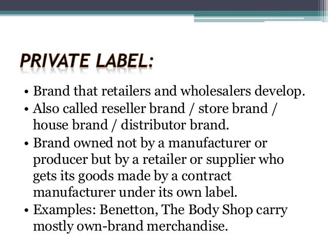 Retailing, Private Labels, Wholesaling & Market Logistics