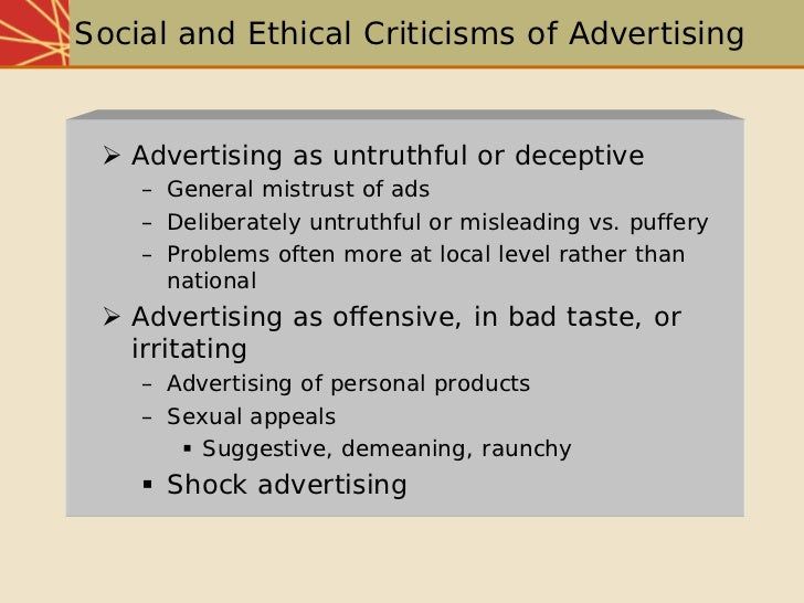 socio economic and ethical implications of advertising Socio-economic developmental strategies as retail  cause-related marketing implications  sector has a responsibility to act on socio-economic issues or not.