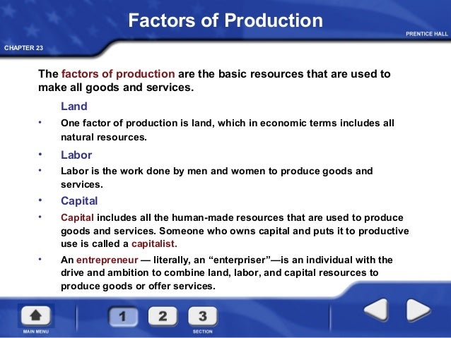 As a factor of production, the term capital includes