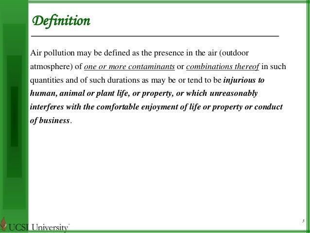 air pollution. Black Bedroom Furniture Sets. Home Design Ideas