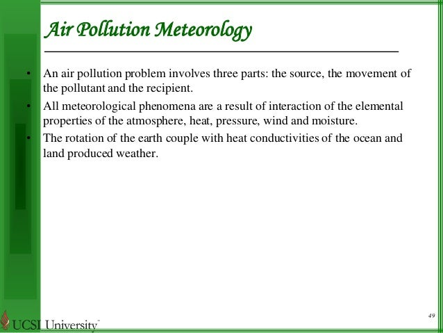 air pollution and meteorology Sorbjan, z (2003) air-pollution meteorologychapter 4 of air quality modeling - theories, methodologies, computational techniques, and available databases and software vol.
