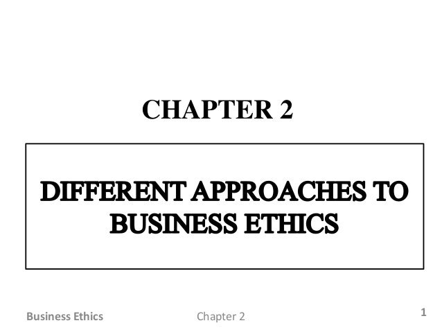 business ethic chap 1