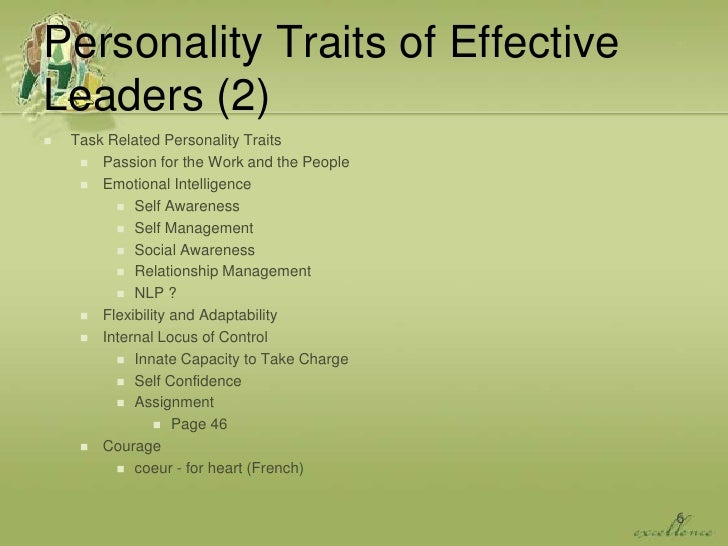 characteristics of an effective group counseling leader Characteristics of an effective group counseling leader running header: characteristics of an effective leader characteristics of an effective leader abstract in today's business world it is very important to have effective leadership it is their responsibility to guide followers so that work is done properly and efficiently.