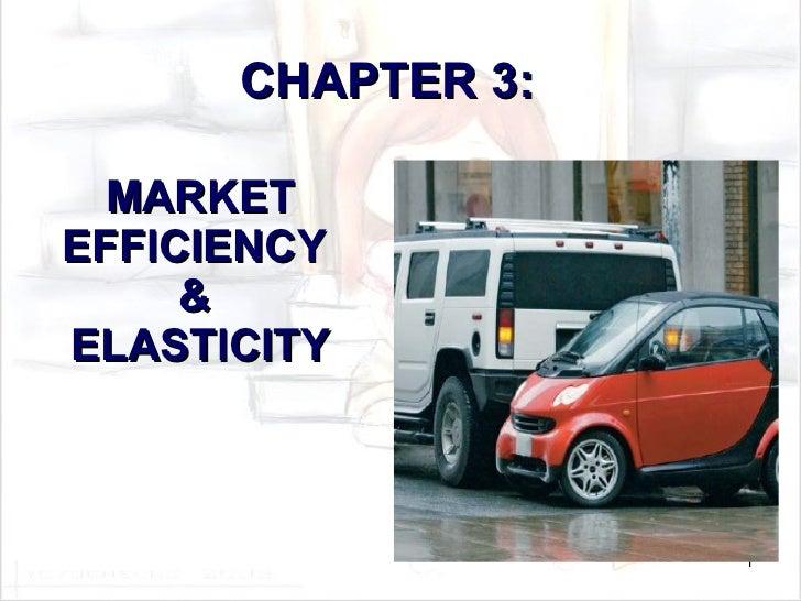 MARKET EFFICIENCY  &  ELASTICITY CHAPTER 3: