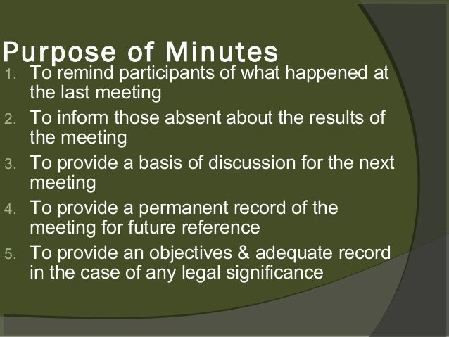narrative and decision minutes of the meeting Narrative and decision minutes of the meeting minutes taking minutes forms an essential part of most meetings their purpose is firstly to record action points, ie.