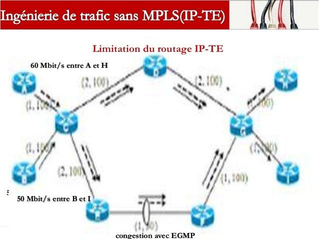 Limite du routage IP  Tout le trafic vers une même destination ou un même point de sortie du réseau emprunte le même chem...