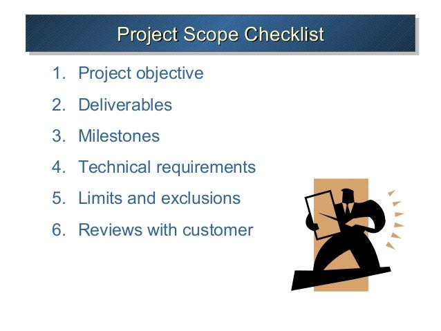 Project Scope ChecklistProject Checklist